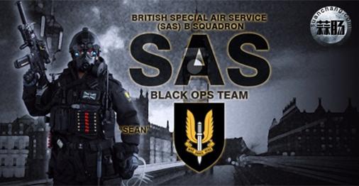 DID新品 英军特别空勤团SAS - B中队 黑色行动组 肖恩