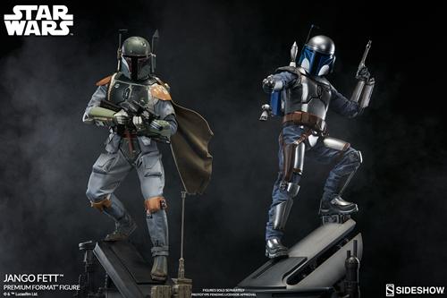 Sideshow——24寸 星球大战 - 赏金猎人 詹戈.费特雕像
