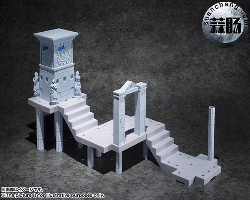 BANDAI D.D.PANORAMATION SERIES 《圣斗士星矢》 黃金12宫扩张套装 圣域之火钟楼 女神雅典娜与士兵 模玩 第6张