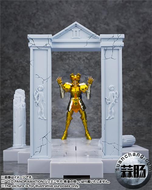 BANDAI D.D.PANORAMATION SERIES 《圣斗士星矢》 黃金12宫扩张套装 圣域之火钟楼 女神雅典娜与士兵 模玩 第8张