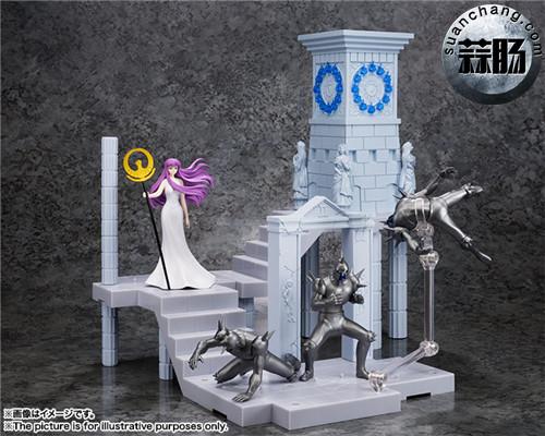 BANDAI D.D.PANORAMATION SERIES 《圣斗士星矢》 黃金12宫扩张套装 圣域之火钟楼 女神雅典娜与士兵 模玩 第1张