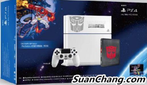 索尼三月将在中国发售变形金刚主题的PS4限定主机