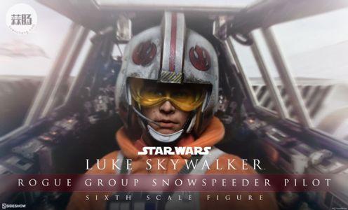 Sideshow 星战- 天行者 卢克LUKE -雪地战机飞行员版