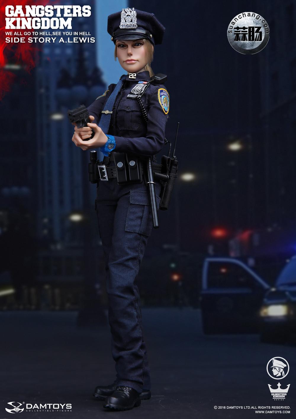 DAMTOYS 1/6黑帮王国系列 番外篇:安妮·刘易斯 警官 模玩 第4张
