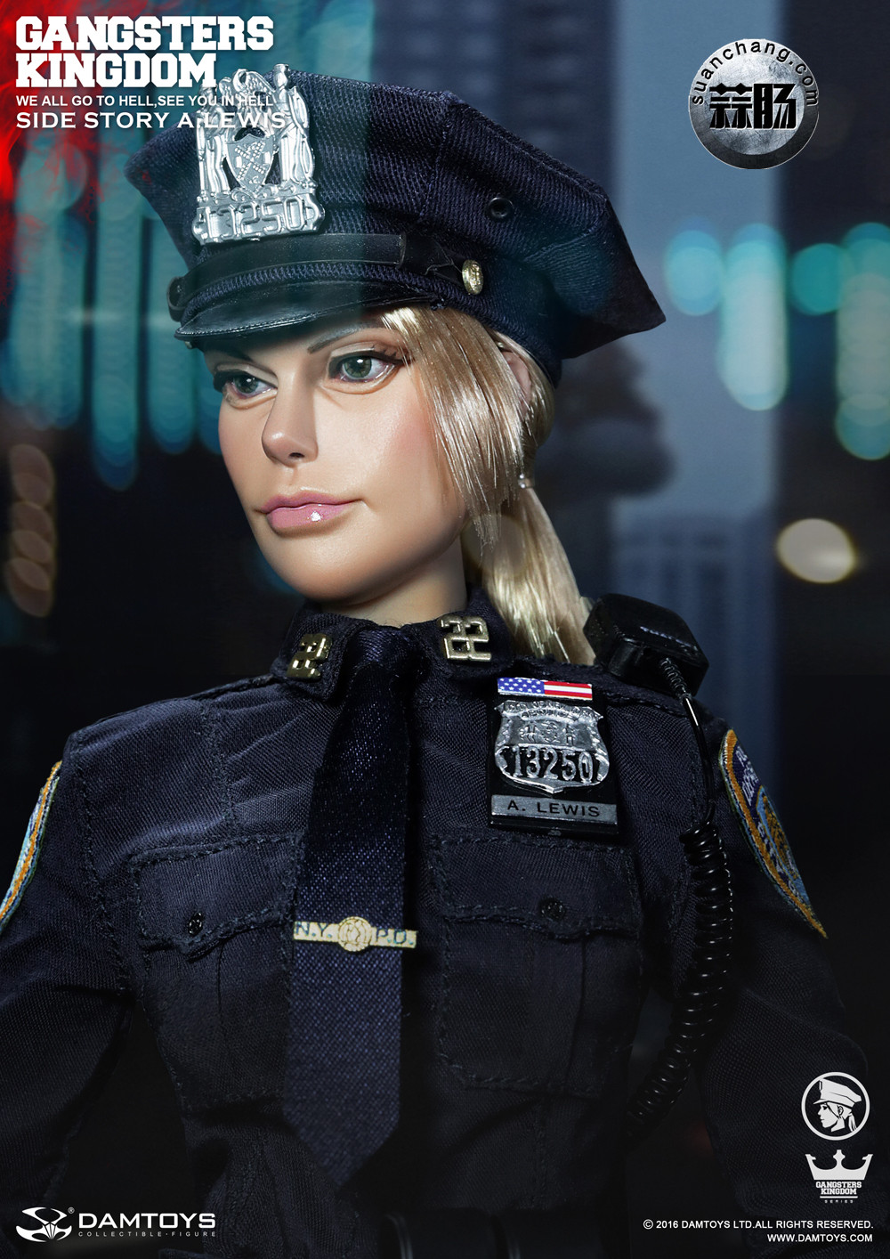 DAMTOYS 1/6黑帮王国系列 番外篇:安妮·刘易斯 警官 模玩 第7张
