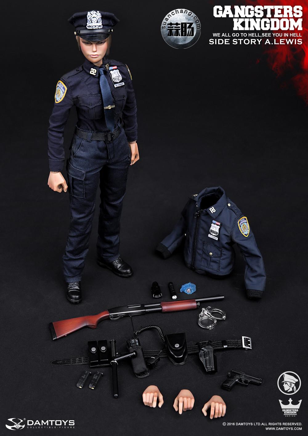 DAMTOYS 1/6黑帮王国系列 番外篇:安妮·刘易斯 警官 模玩 第14张