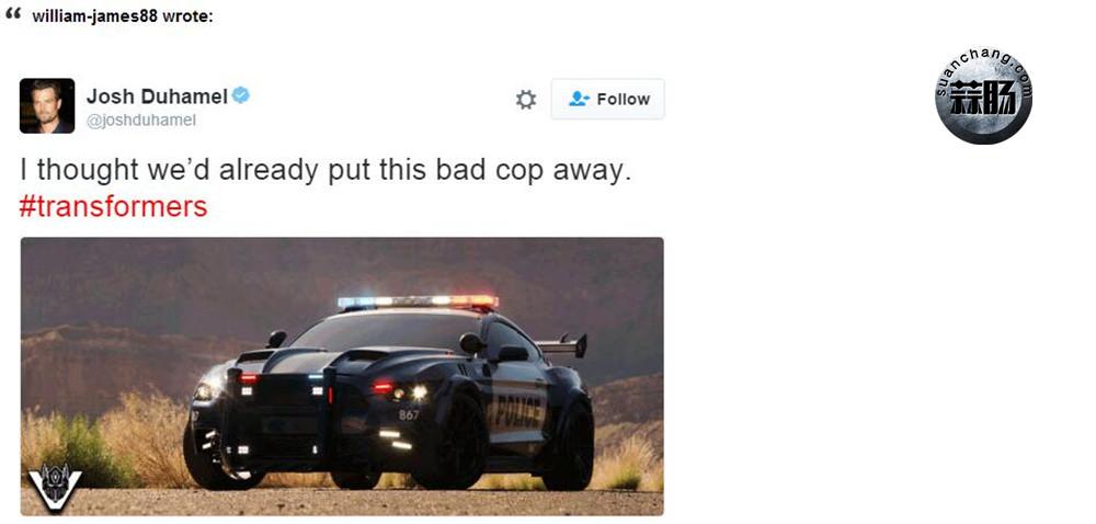 """《变形金刚5》""""路障""""回归 伪善成警车对战大黄蜂 变形金刚 第2张"""