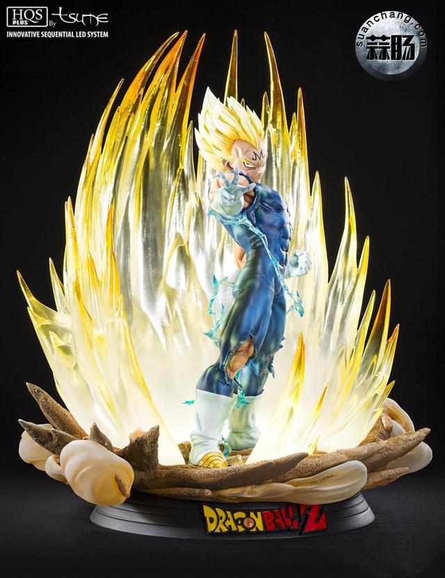 """七龙珠系列 魔人贝吉塔全身雕像 """"金贵来袭"""" 模玩 第2张"""