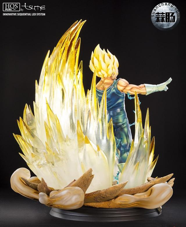 """七龙珠系列 魔人贝吉塔全身雕像 """"金贵来袭"""" 模玩 第5张"""