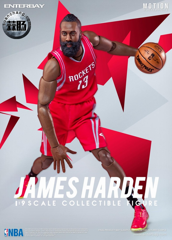 Enterbay 新品NBA球星系列- James Harden詹姆斯·哈登 模玩 第2张