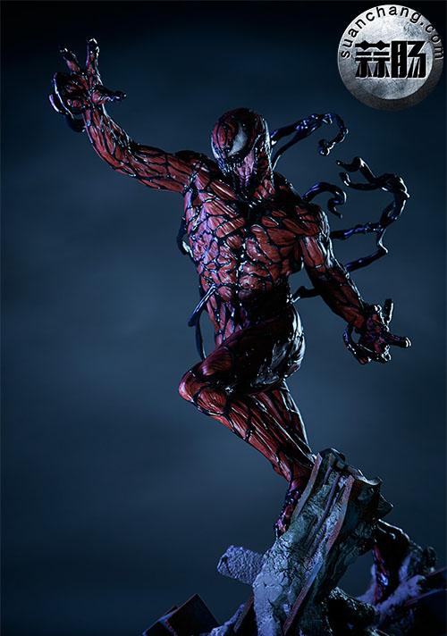 哇哦!Sideshow 新品:22寸 蜘蛛侠反派 - Carnage/屠杀 雕像 模玩 第2张