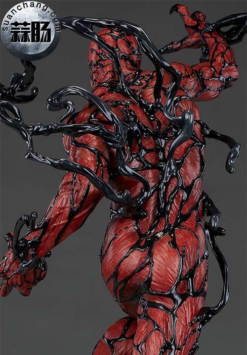 哇哦!Sideshow 新品:22寸 蜘蛛侠反派 - Carnage/屠杀 雕像 模玩 第4张