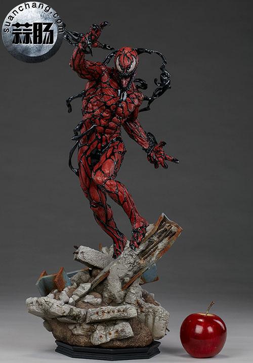 哇哦!Sideshow 新品:22寸 蜘蛛侠反派 - Carnage/屠杀 雕像 模玩 第3张