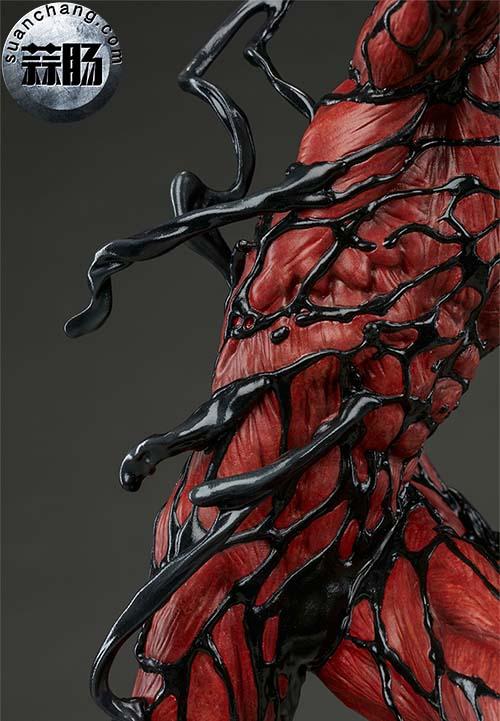 哇哦!Sideshow 新品:22寸 蜘蛛侠反派 - Carnage/屠杀 雕像 模玩 第5张