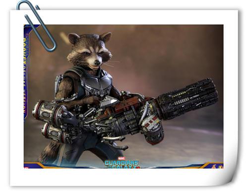 HotToys新品《银河护卫队2》火箭浣熊和树宝宝官图公布