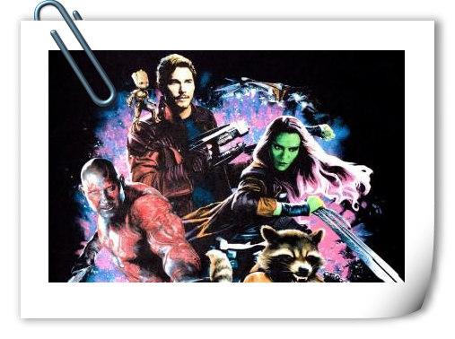 《银河护卫队2》艺术海报曝光 星爵爸爸浮出水面