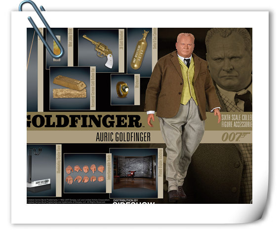 Sideshow《007之金手指》Oddjob&金手指官图公布