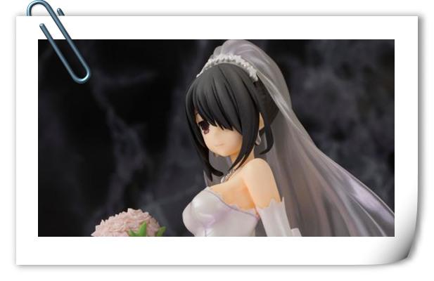 《约会大作战》时崎狂三婚纱手办 真的好美