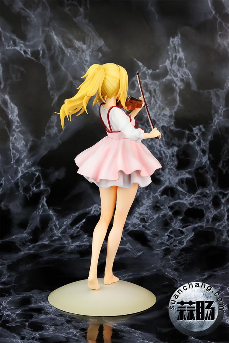 《四月的谎言》宫园薰手办,裸足短裙的小提琴手 模玩 第4张