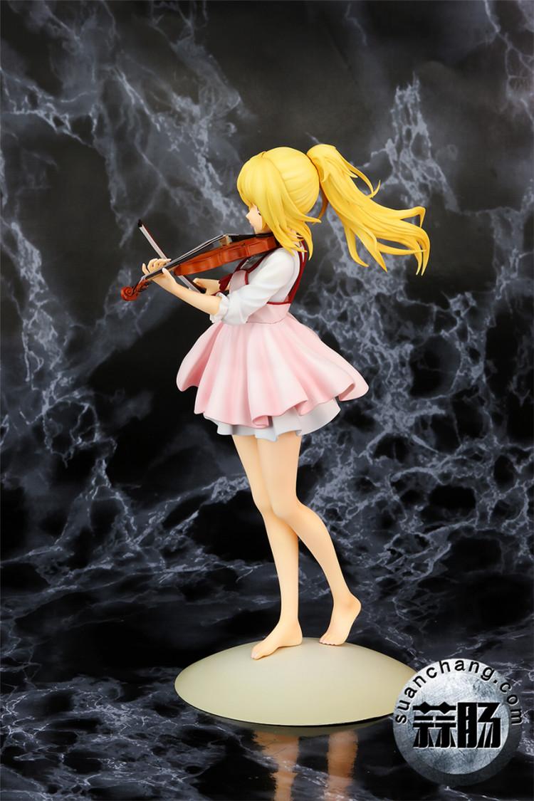 《四月的谎言》宫园薰手办,裸足短裙的小提琴手 模玩 第2张