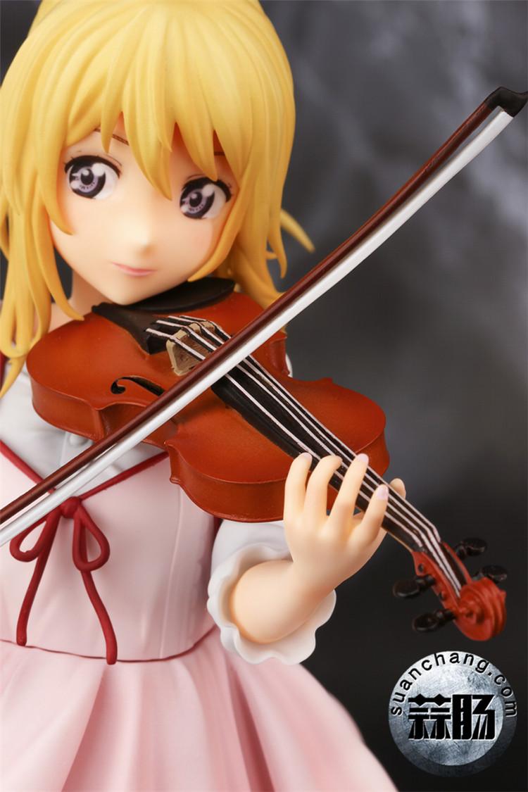 《四月的谎言》宫园薰手办,裸足短裙的小提琴手 模玩 第3张