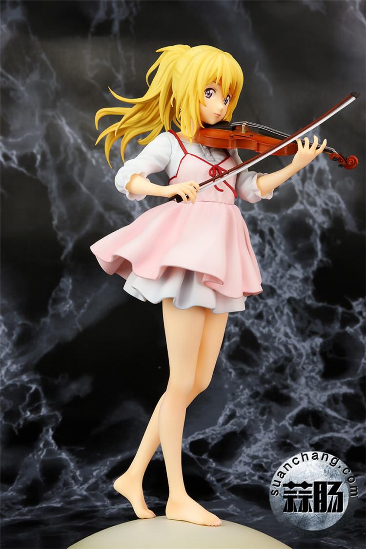 《四月的谎言》宫园薰手办,裸足短裙的小提琴手 模玩 第1张
