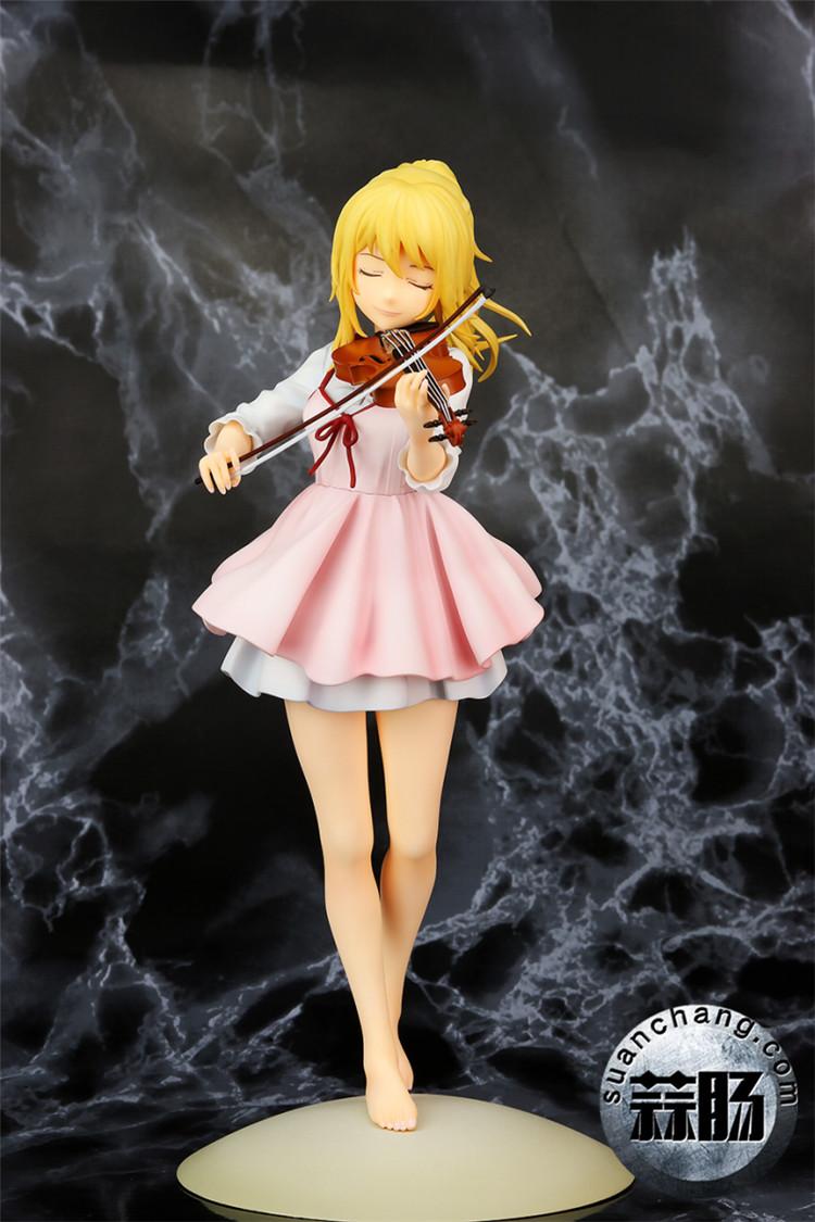 《四月的谎言》宫园薰手办,裸足短裙的小提琴手 模玩 第5张