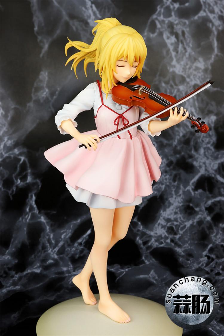 《四月的谎言》宫园薰手办,裸足短裙的小提琴手 模玩 第7张