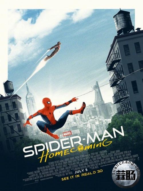 《蜘蛛侠:英雄归来》再曝光新海报!北美预售与《神奇女侠》同期相当 动漫