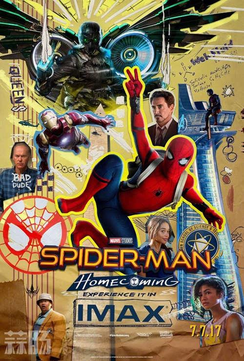 《蜘蛛侠:英雄归来》首曝剪画风IMAX海报 续集8月开始筹备! 动漫 第1张