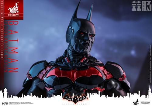 Hottoys新品:1/6 VGM29《蝙蝠侠:阿卡姆骑士》- Batman/蝙蝠侠(未来骑士限定版) 模玩 第7张