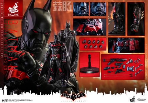 Hottoys新品:1/6 VGM29《蝙蝠侠:阿卡姆骑士》- Batman/蝙蝠侠(未来骑士限定版) 模玩 第11张