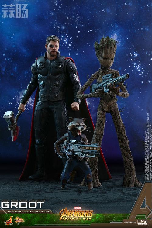 漫威《复仇者联盟3:无限战争》格鲁特及火箭浣熊1:6比例珍藏人偶套装 模玩 第1张