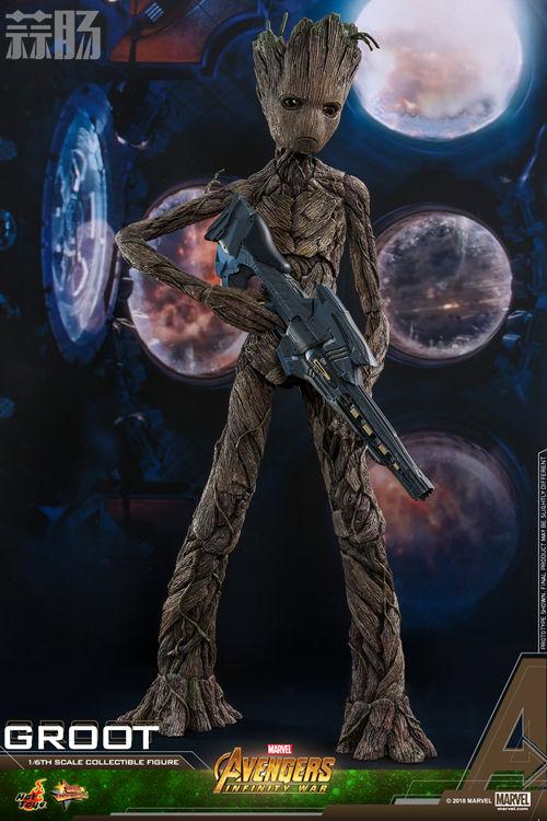 漫威《复仇者联盟3:无限战争》格鲁特及火箭浣熊1:6比例珍藏人偶套装 模玩 第4张