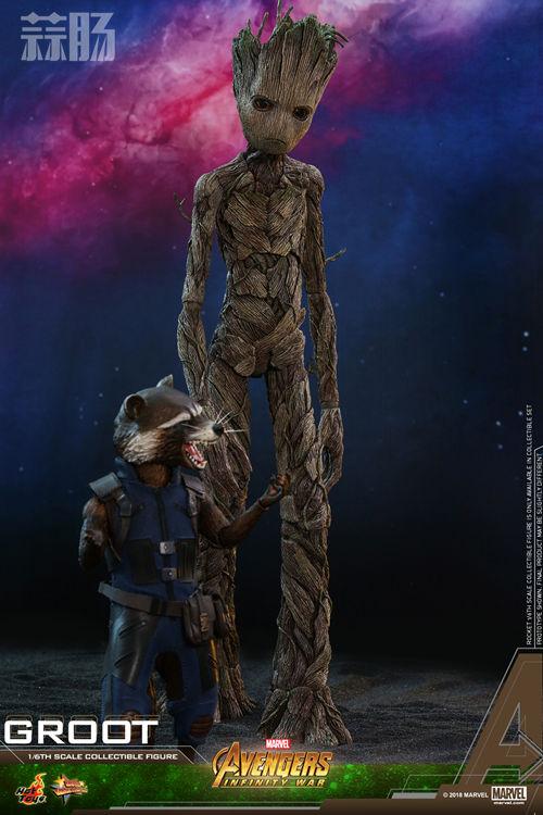 漫威《复仇者联盟3:无限战争》格鲁特及火箭浣熊1:6比例珍藏人偶套装 模玩 第5张