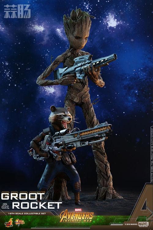 漫威《复仇者联盟3:无限战争》格鲁特及火箭浣熊1:6比例珍藏人偶套装 模玩 第11张