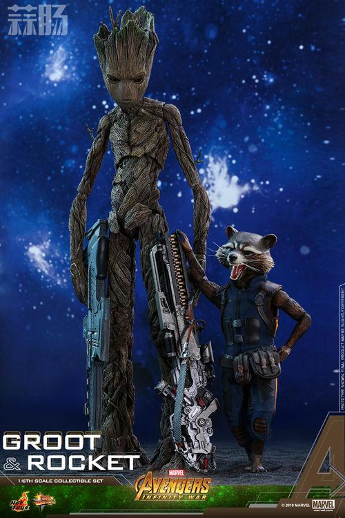 漫威《复仇者联盟3:无限战争》格鲁特及火箭浣熊1:6比例珍藏人偶套装 模玩 第12张