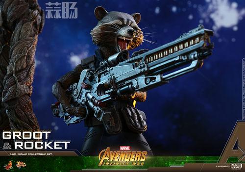 漫威《复仇者联盟3:无限战争》格鲁特及火箭浣熊1:6比例珍藏人偶套装 模玩 第6张