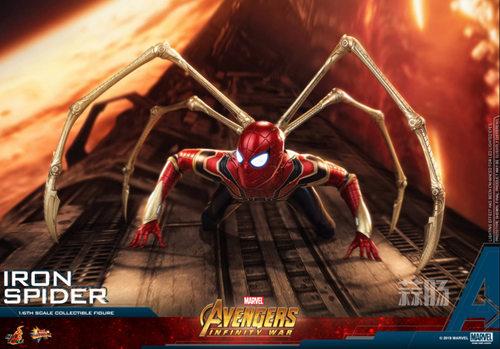 Hot Toys《复仇者联盟3: 无限战争》钢铁蜘蛛1:6比例珍藏人偶 模玩 第3张
