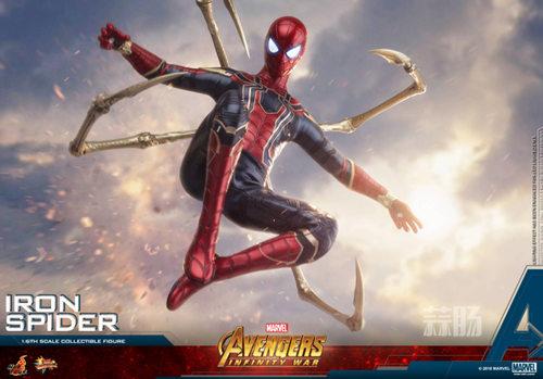 Hot Toys《复仇者联盟3: 无限战争》钢铁蜘蛛1:6比例珍藏人偶 模玩 第4张