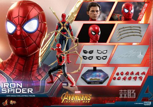 Hot Toys《复仇者联盟3: 无限战争》钢铁蜘蛛1:6比例珍藏人偶 模玩 第6张