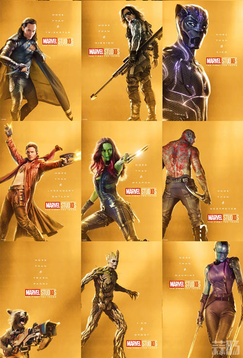庆祝漫威电影宇宙诞生10周年!32张全角色海报公开! 动漫 第2张