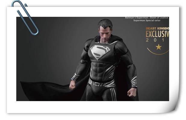 很酷!Beast Kingdom圣地亚哥动漫节限定 1/9正义联盟 黑色超人 