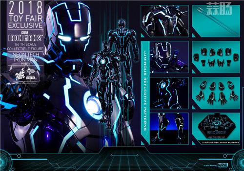 Hot Toys《钢铁侠2》钢铁侠Mark IV (创战光速蓝) 1:6比例合金珍藏人偶 模玩 第7张