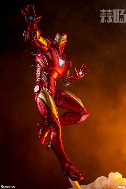 Sideshow 发布 1/5 漫威漫画版 钢铁侠MarkII 雕像官图! 模玩 第2张