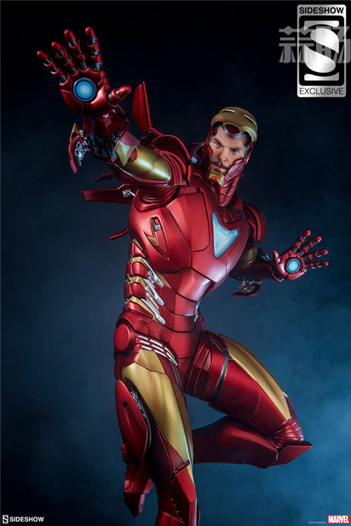 Sideshow 发布 1/5 漫威漫画版 钢铁侠MarkII 雕像官图! 模玩 第4张