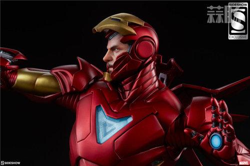 Sideshow 发布 1/5 漫威漫画版 钢铁侠MarkII 雕像官图! 模玩 第3张