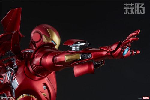 Sideshow 发布 1/5 漫威漫画版 钢铁侠MarkII 雕像官图! 模玩 第5张