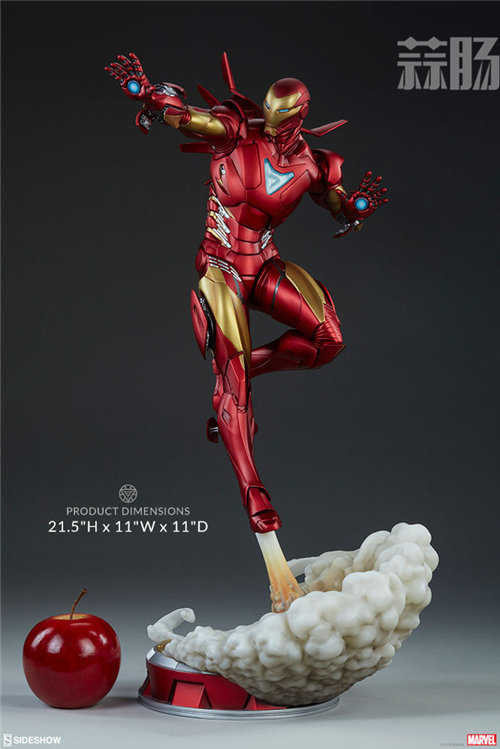 Sideshow 发布 1/5 漫威漫画版 钢铁侠MarkII 雕像官图! 模玩 第6张