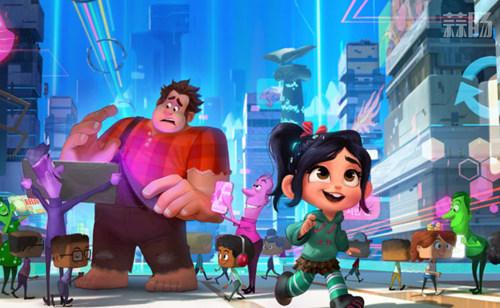 《无敌破坏王2》迪士尼公主合影剧照公开 11月美国上映! 动漫 第2张